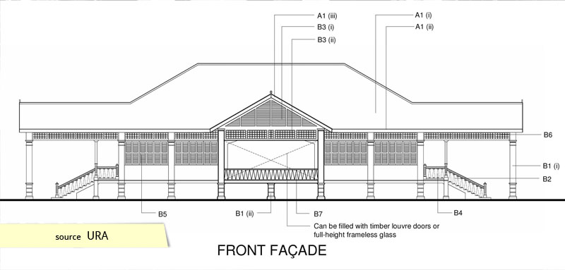 Front elevation of Matilda House Punngol Singapore