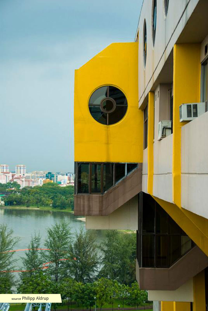 View towards Kallang from Golden Mile Complex