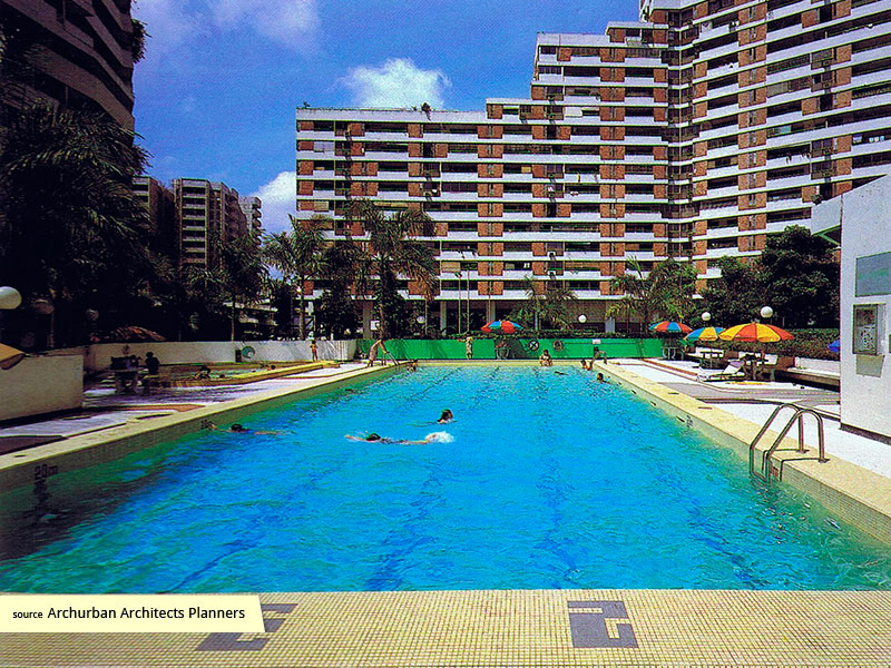 Swimming pool of Pandan Valley Condominium Singapore