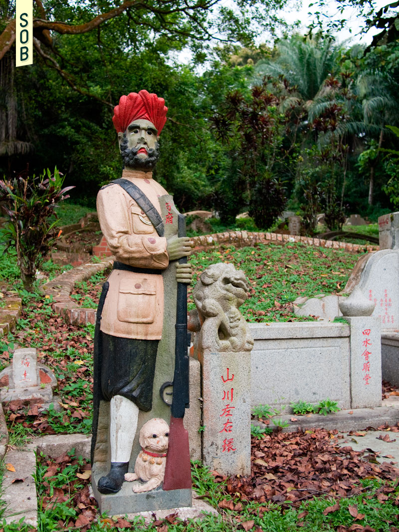 One of the iconic Sikh Guards at Bukit Brown