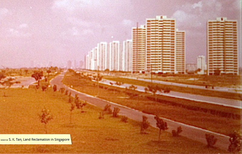 A Corbusian urban vision of green spaces and high-rise dwellings at East Coast Park Singapore