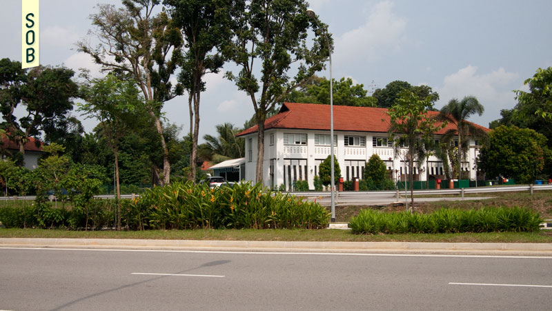 RAF Seletar bungalows across Oxford Street
