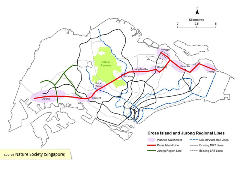 Cross Island Line derived from Land Transport Master Plan 2013