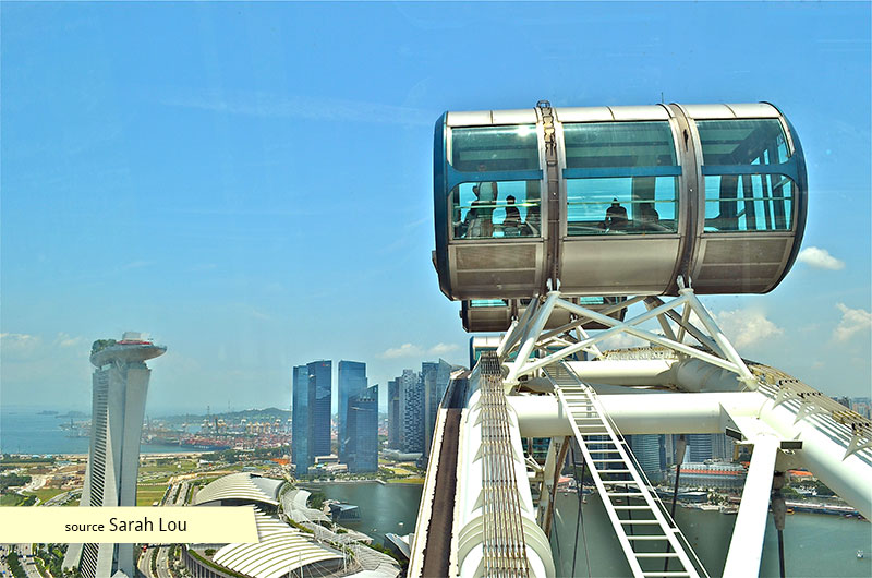 View from the top of the Singapore Flyer