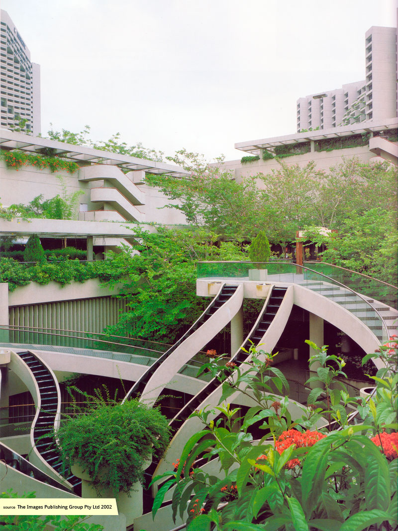 Cascading roof garden at Marina Square Singapore
