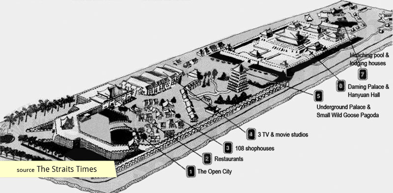 Tang Dynasty City Singapore map