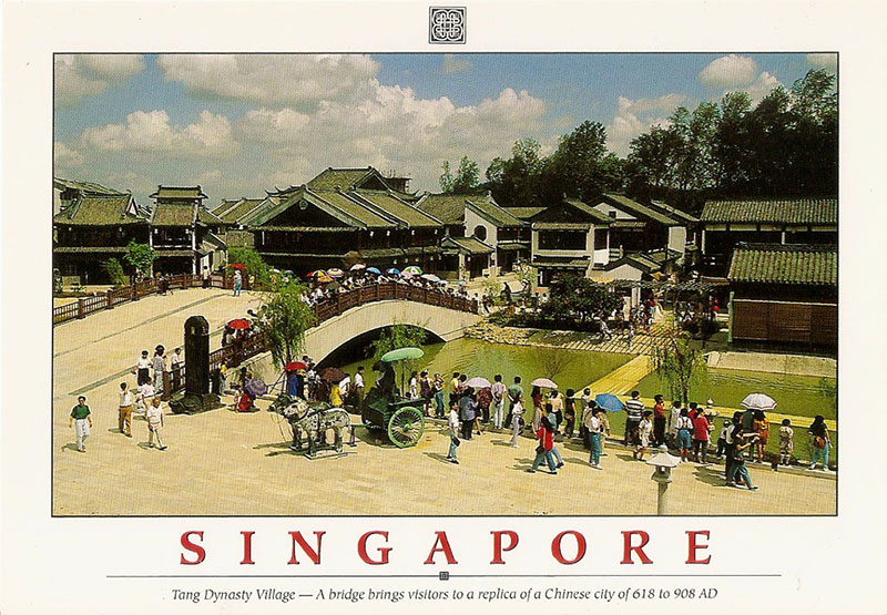 Tang Dynasty City Singapore bridge and replica houses