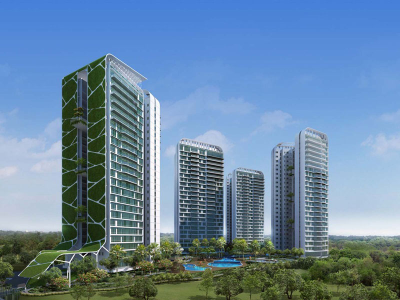 Tree House Condominium Singapore rendering by ADDP Architects