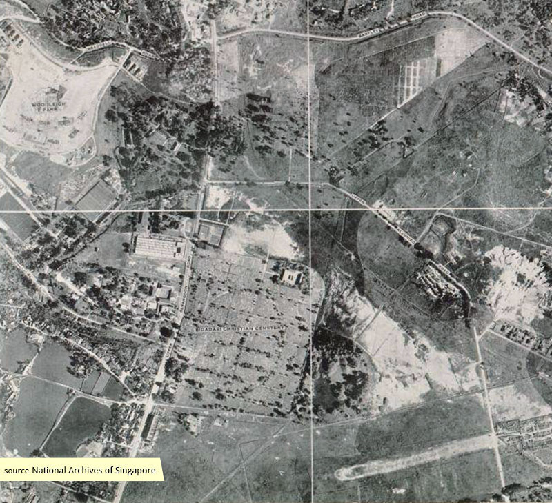 1950 RAF Photomap of Bidadari Cemetery