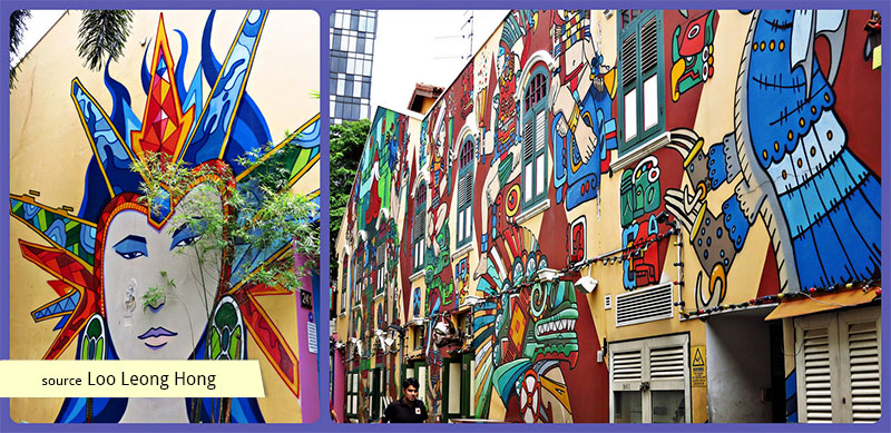 Murals of Haji Lane and Kampong Glam