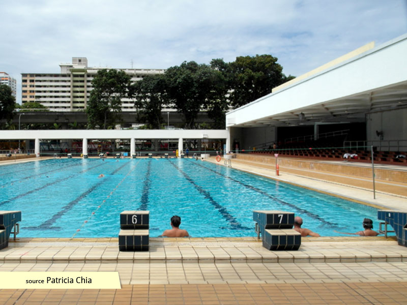 Starting blocks at Bedok Swimming Complex