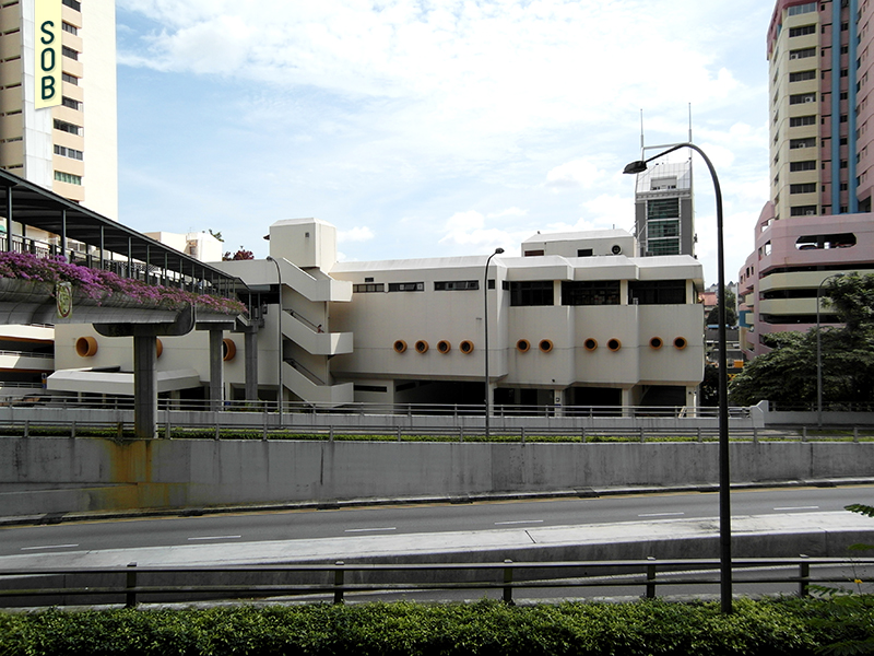 View of Beauty World Centre from across Jln Anak Bukit