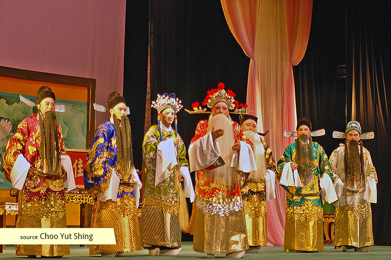 The Fujian Opera Troupe from China at Kreta Ayer People's Theatre
