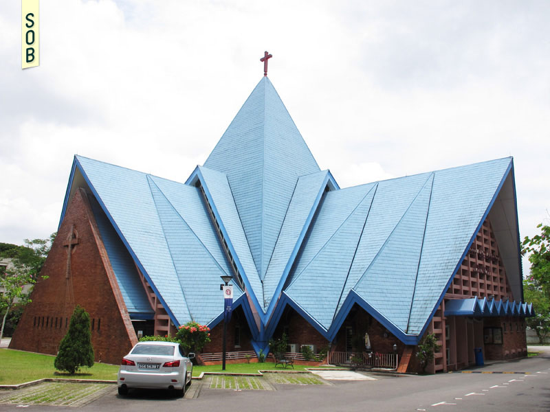 Exterior view of Blessed Sacrament Church in 2013