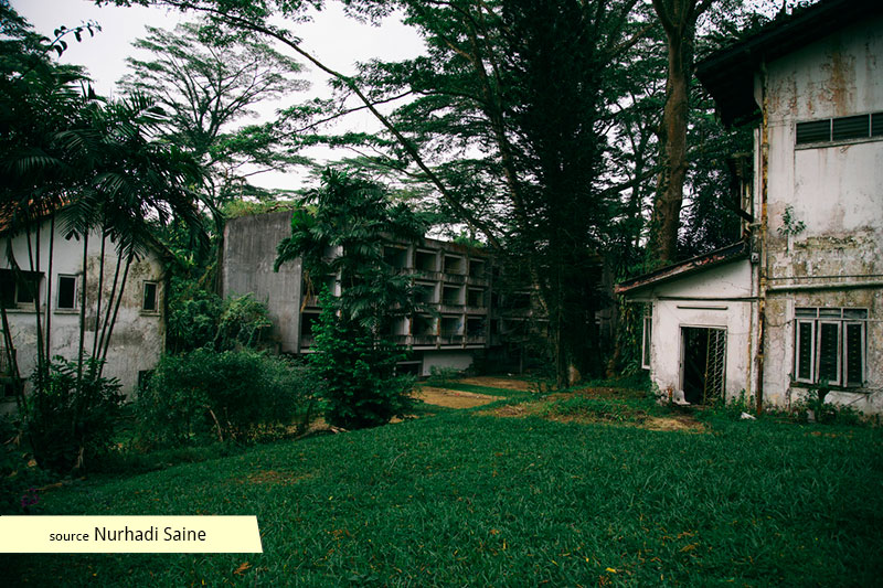 Abandoned premises of the old Tanglin Hill Bruneian Hostel
