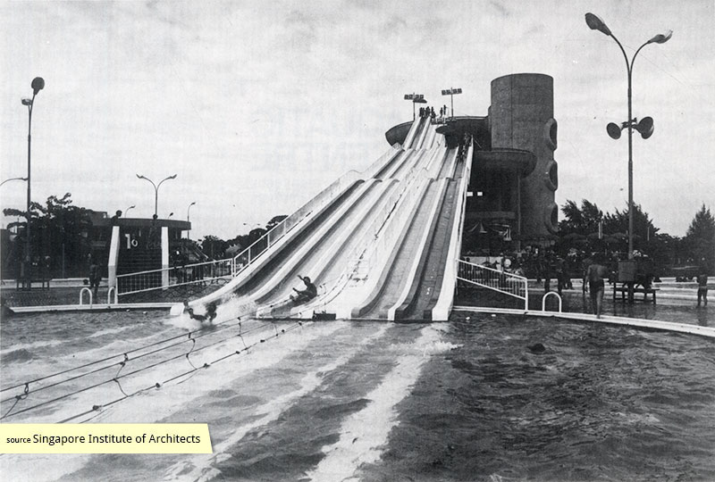 Slide Pool at Big Splash Singapore 1977