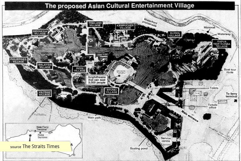 Development map of Asian Village on Sentosa