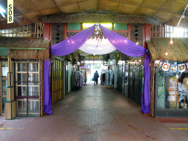 Traditional decorations and shops at Geylang Serai Malay Village