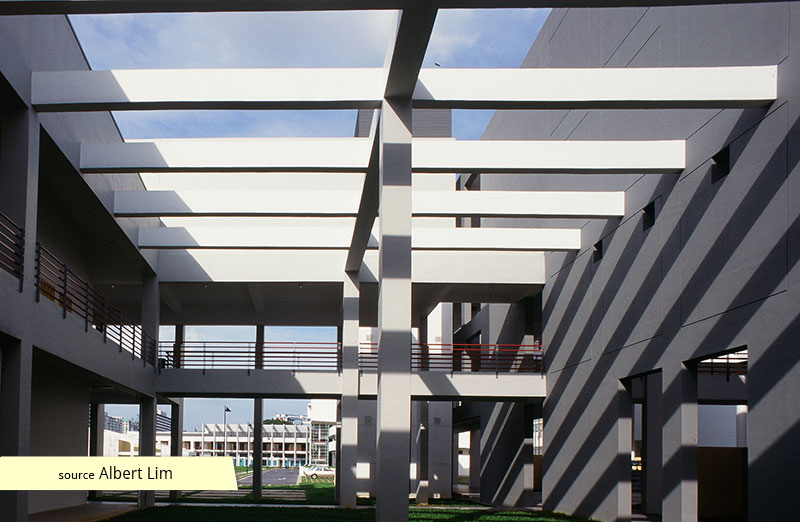 Courtyard and pergola of ITE Balestier