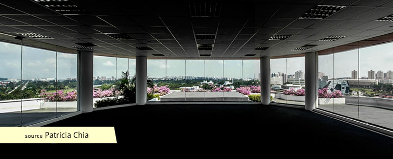 Jurong Town Hall penthouse and the view of Jurong Town