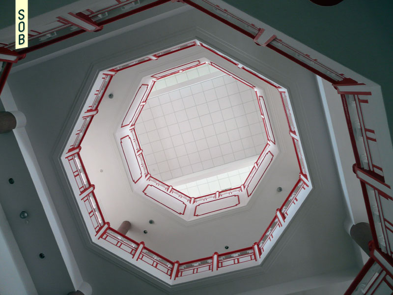 Octagonal atrium of the Chinese Heritage Centre
