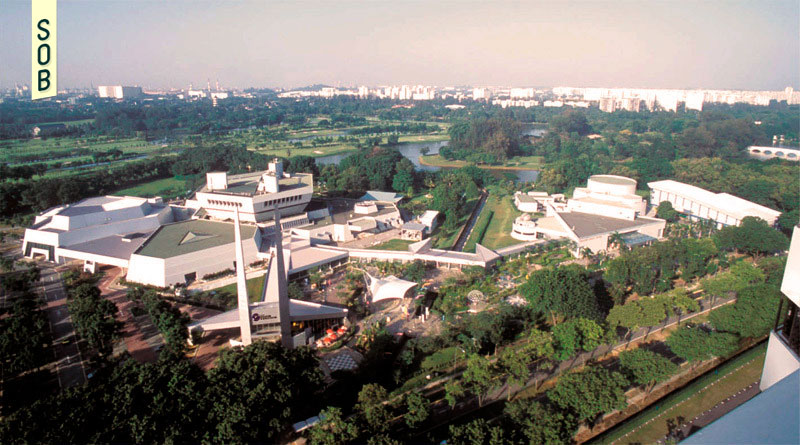 1990s view of Science Centre Singapore and the Singapore Omni-Theatre in Jurong