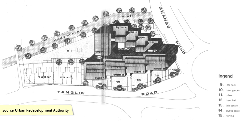Site plan of the Singapore Handicraft Centre along Tanglin Road