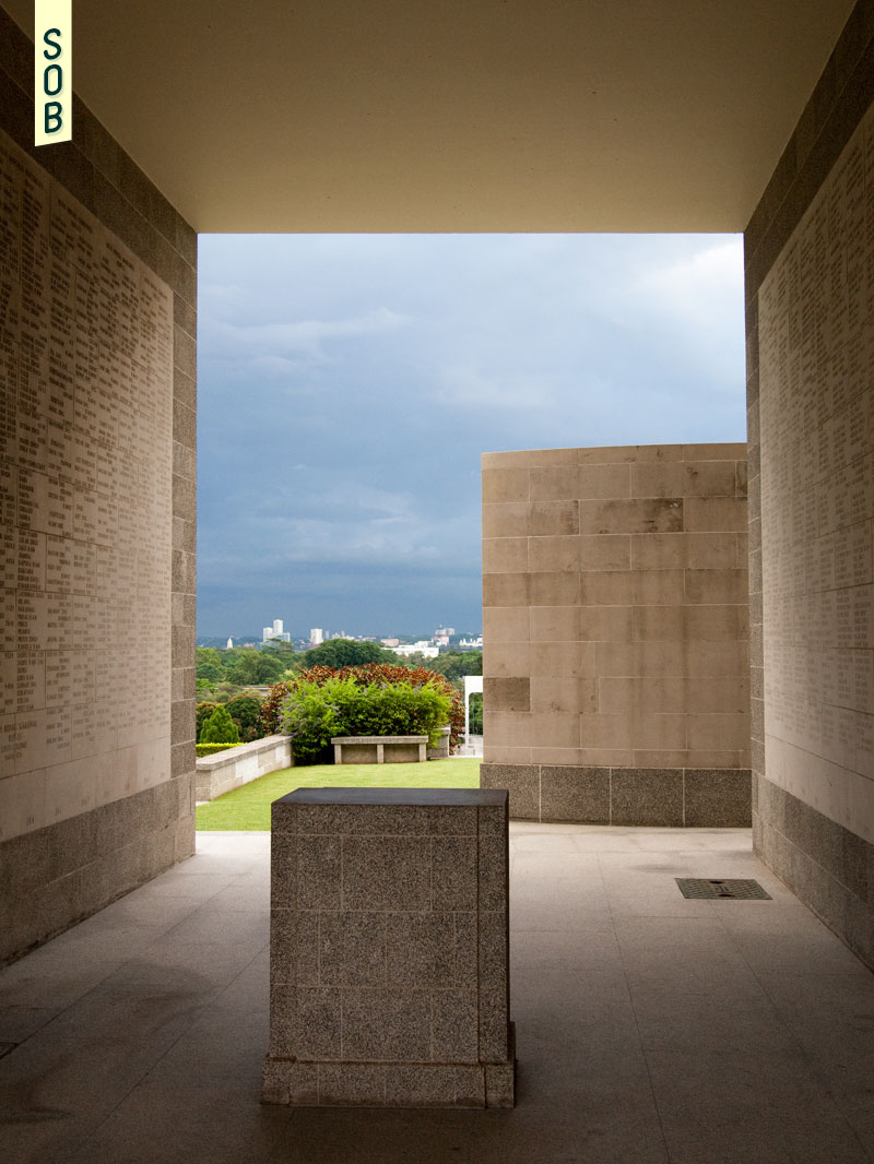 View of Malaysia from the Kranji War Memorial, set on a hill