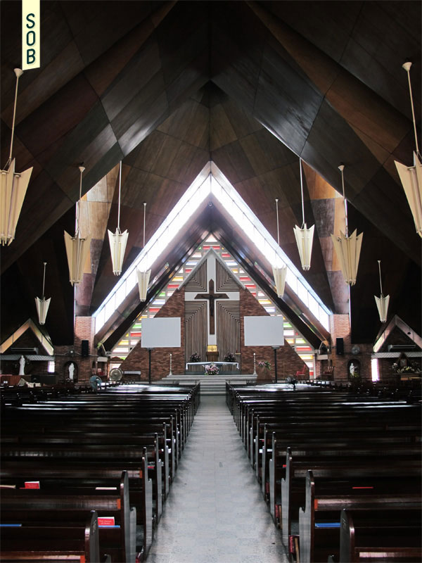 Interior view of Blessed Sacrament Church
