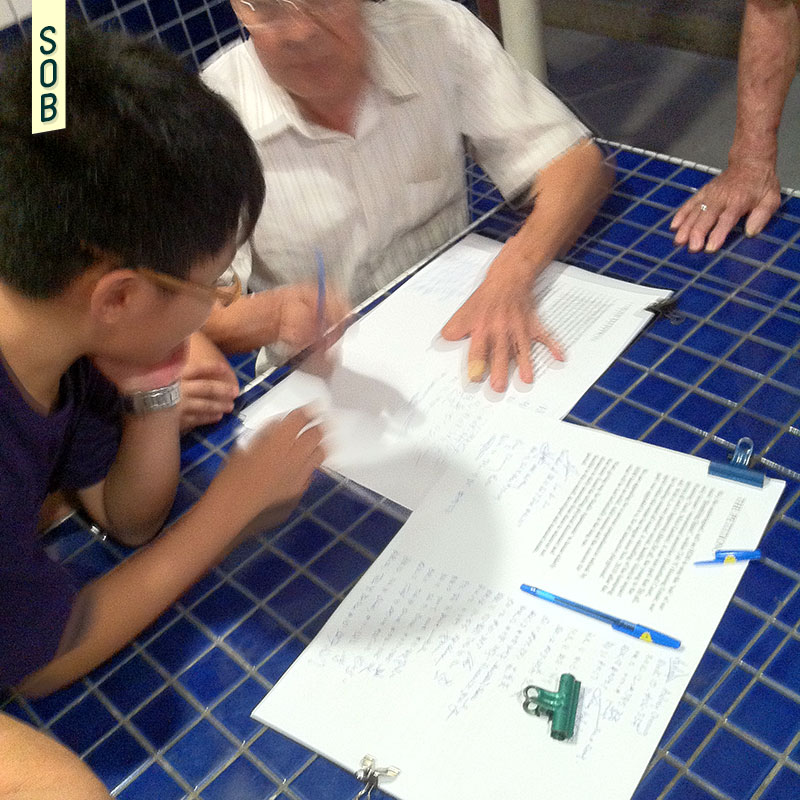 The Toh Yi Elderly Housing Petition being signed