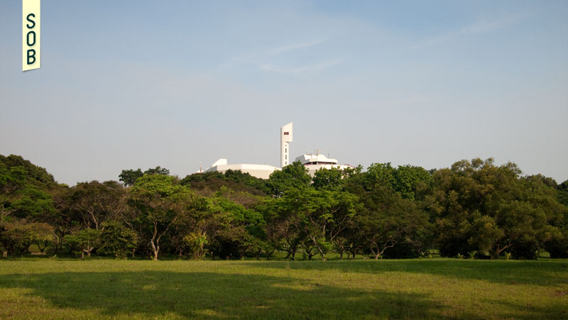 Jurong Town Hall Clock Tower from a distance