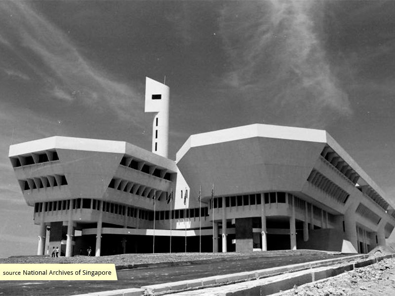Jurong Town Hall in the 1970s