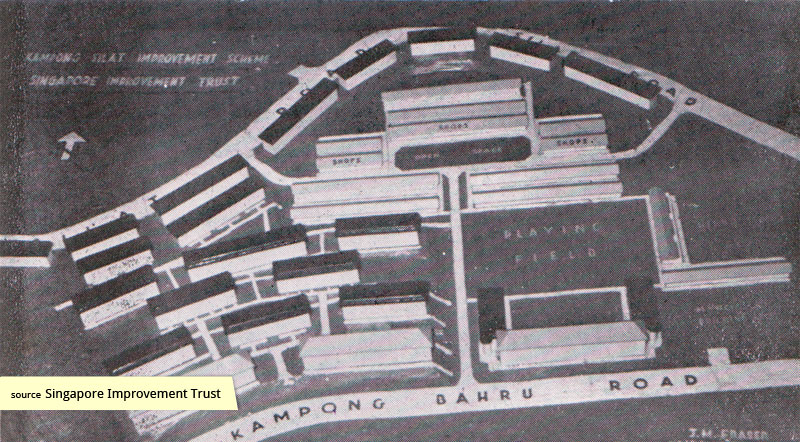 SIT architectural model of Kampong Silat Estate
