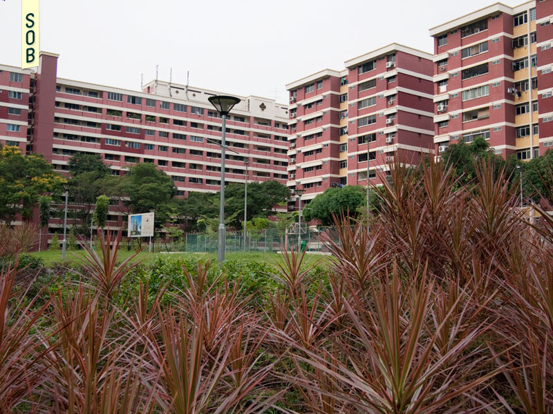 The site of new elderly housing in Toh Yi estate