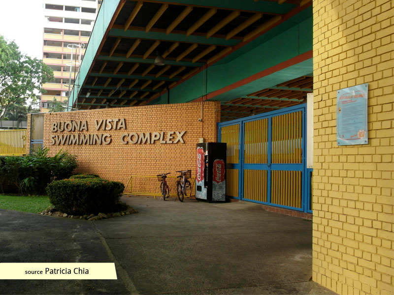 Entrance to Buona Vista Swimming Complex
