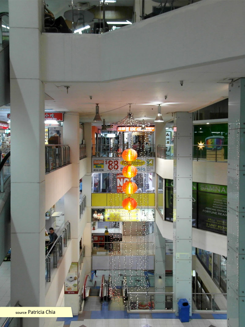 Atrium of Bukit Timah Shopping Centre