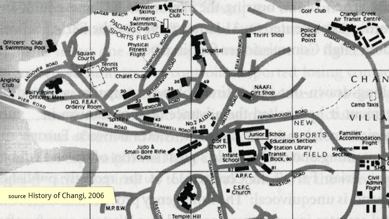 1965 map of RAF Changi