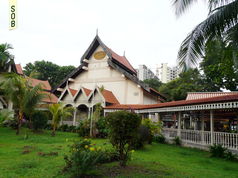 Grass lawn at Geylang Serai Malay Village