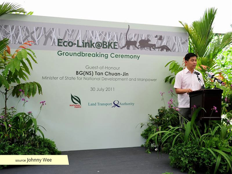 Eco-Link@BKE Groundbreaking Ceremony with Minister Tan Chuan-Jin