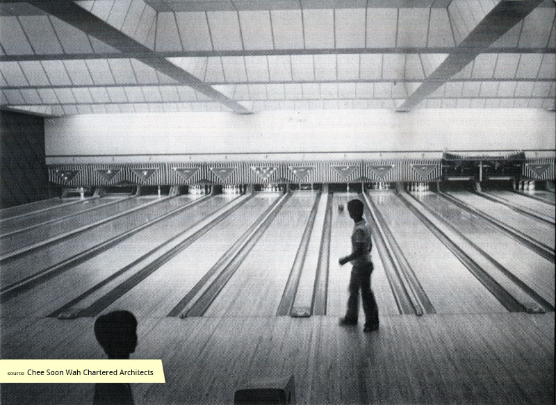 Bowling alley in the 1970s at Queenstown Cinema and Bowl