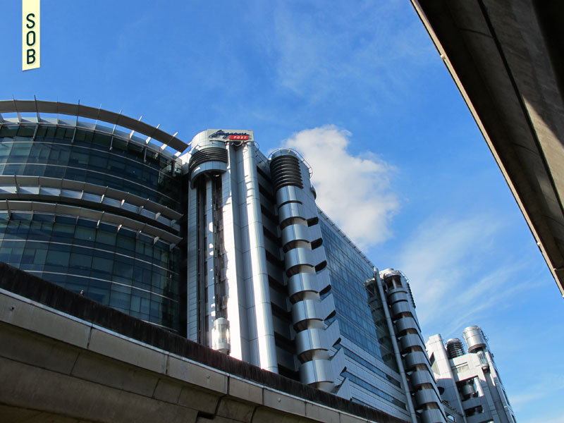 High-tech architecture in Eunos Singapore along the MRT line