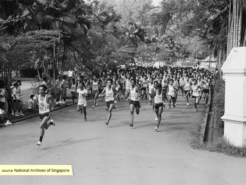 1971 Cross Country Race at MacRitchie Reservoir