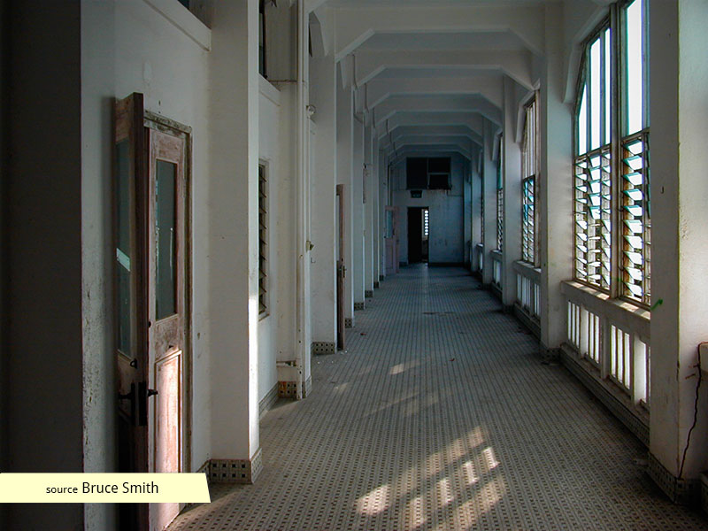 Old Changi Hospital empty corridor