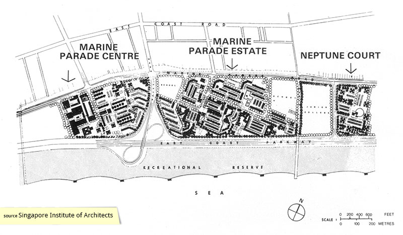 Neptune Court Singapore site plan showing relation to Marine Parade Estate
