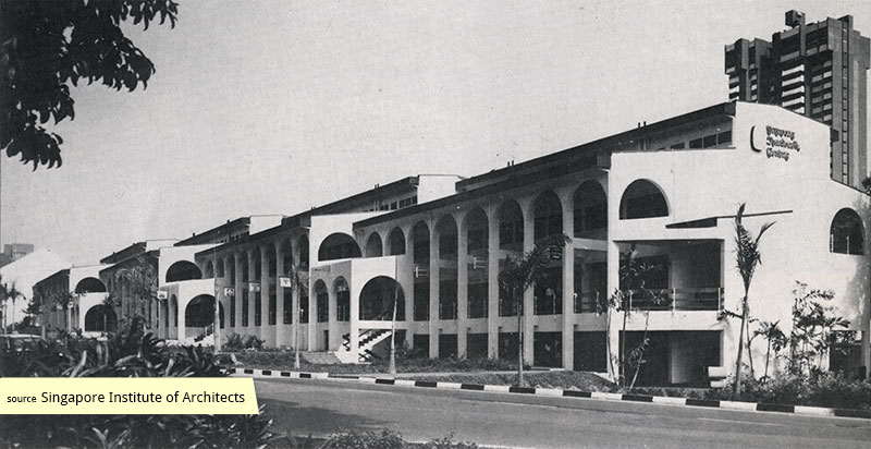 View of Singapore Handicraft Centre along Tanglin Road in the 1970s