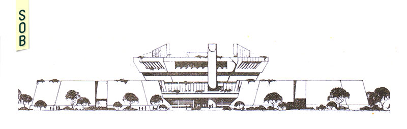 Elevation drawing of Science Centre Singapore by Raymond Woo