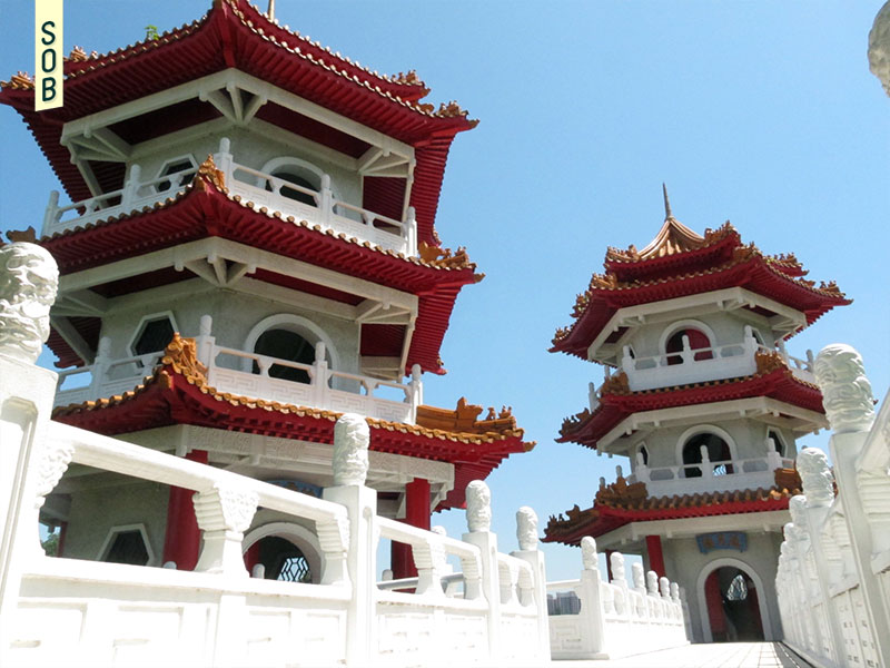 Pagodas of Chinese Gardens in Jurong