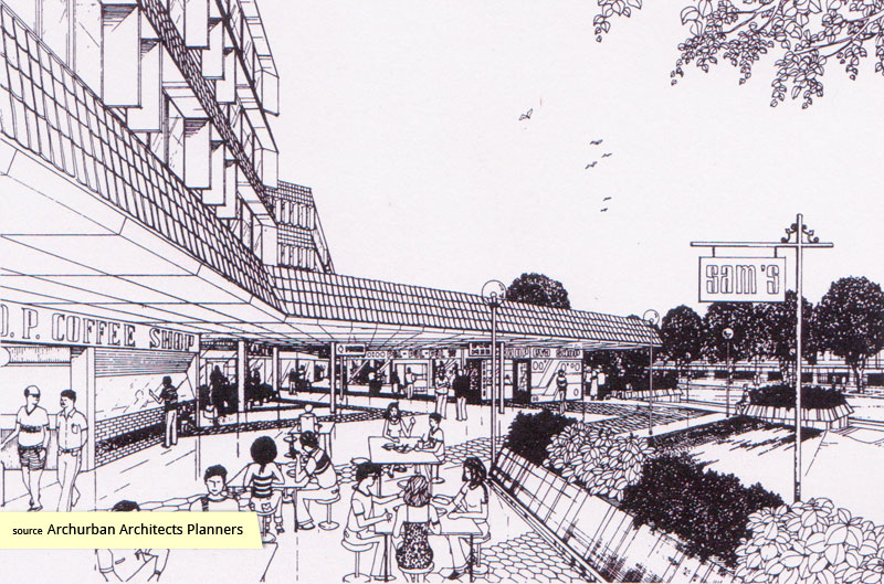 Artist's impression of Hong Leong Gardens Shopping Centre