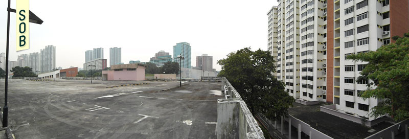 View from roof deck of carpark Commonwealth Avenue Singapore