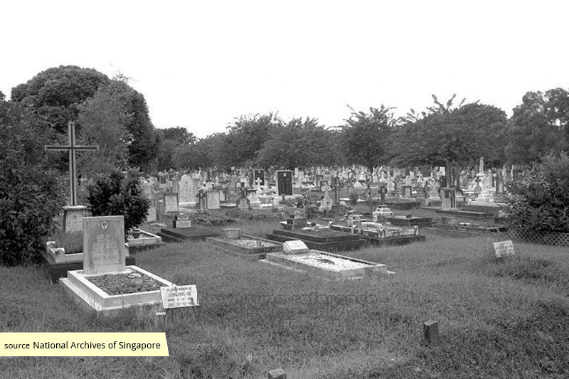 Bidadari Christian Cemetery at Upper Serangoon Road
